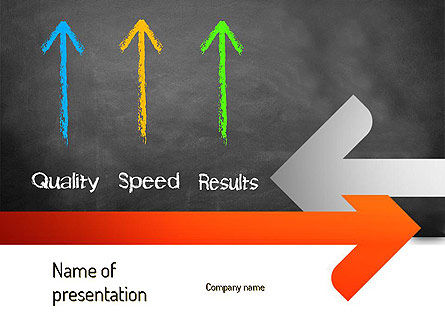 Quality Speed Results PowerPoint Template, 11087, Business Concepts — PoweredTemplate.com