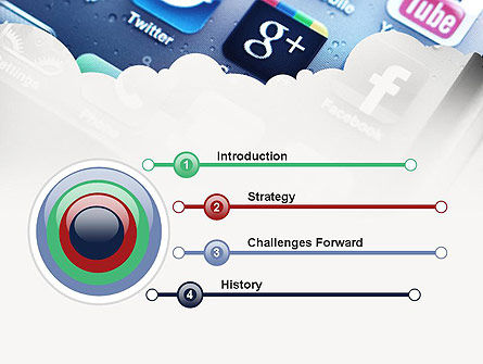 Social Media Applications PowerPoint Template, Slide 3, 11088, Technology and Science — PoweredTemplate.com