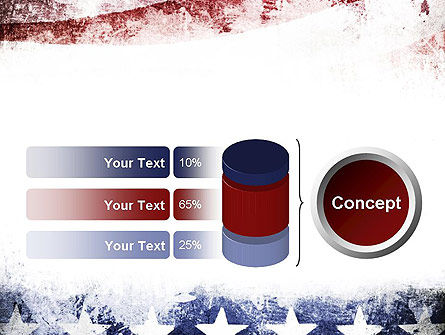 Painted American Flag PowerPoint Template Slide 11