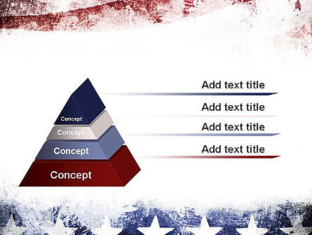 Painted American Flag PowerPoint Template Slide 12