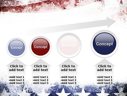 Painted American Flag PowerPoint Template Slide 13