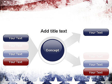 Painted American Flag PowerPoint Template Slide 14