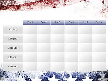Painted American Flag PowerPoint Template Slide 15
