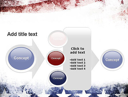 Painted American Flag PowerPoint Template Slide 17