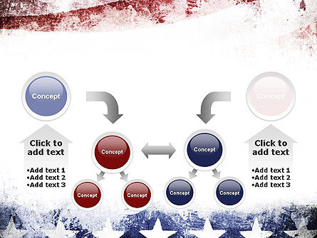 Painted American Flag PowerPoint Template Slide 19