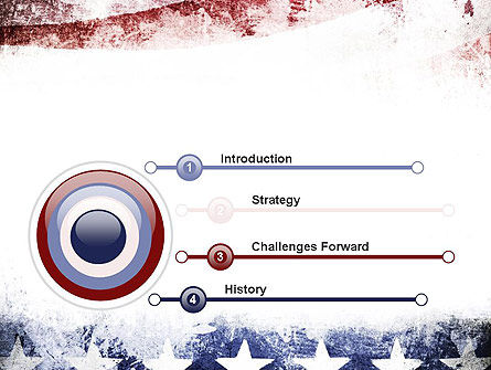 Painted American Flag PowerPoint Template Slide 3