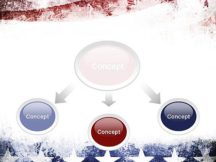 Painted American Flag PowerPoint Template Slide 4