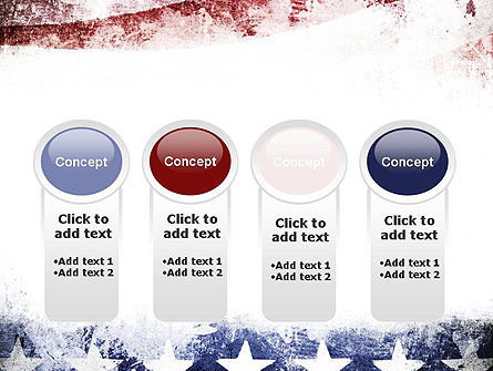 Painted American Flag PowerPoint Template Slide 5