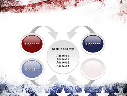 Painted American Flag PowerPoint Template Slide 6
