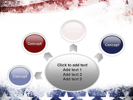 Painted American Flag PowerPoint Template Slide 7