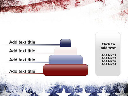 Painted American Flag PowerPoint Template Slide 8
