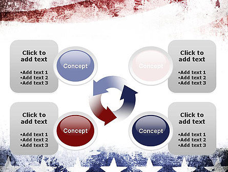 Painted American Flag PowerPoint Template Slide 9