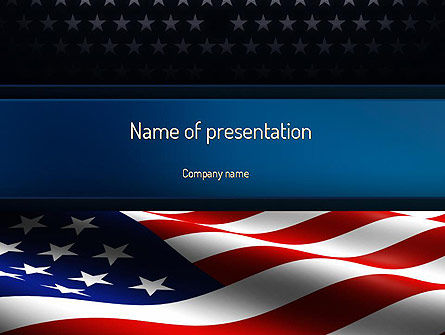 America Stand Strong PowerPoint Template, 11090, America — PoweredTemplate.com