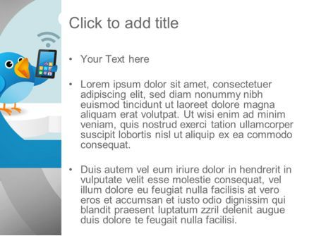 Tweeting PowerPoint Template, Slide 3, 11093, Telecommunication — PoweredTemplate.com