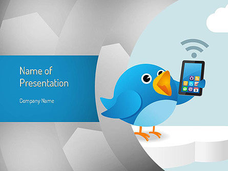 Telecommunication: Tweeting PowerPoint Template #11093