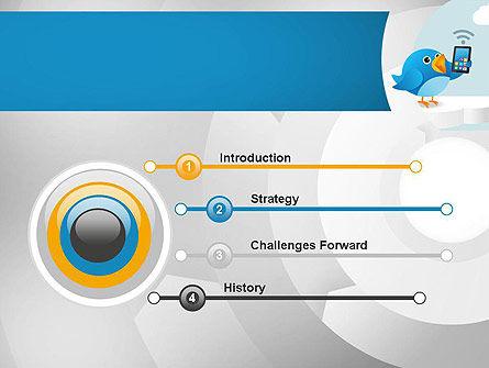 Tweeting PowerPoint Template, Slide 3, 11093, Telecommunication — PoweredTemplate.com