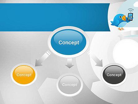 Tweeting PowerPoint Template, Slide 4, 11093, Telecommunication — PoweredTemplate.com