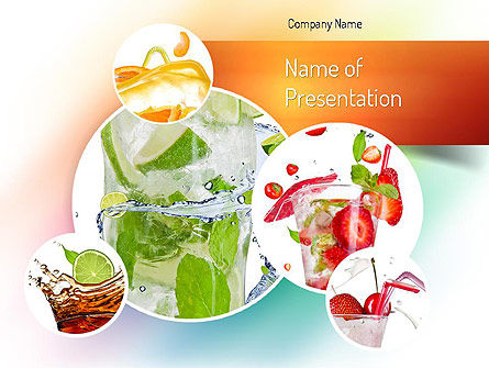 Refreshing Drinks PowerPoint Template, 11094, Food & Beverage — PoweredTemplate.com