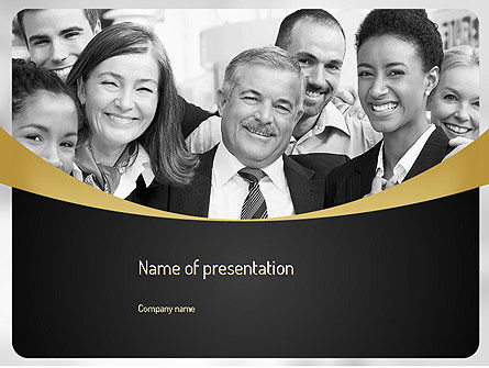 People: Happy Employees PowerPoint Template #11095