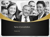 People: Modèle PowerPoint de heureux employé #11095
