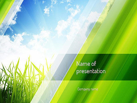 Nature & Environment: Green Dawn PowerPoint Template #11098