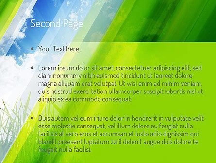 Green Dawn PowerPoint Template, Slide 2, 11098, Nature & Environment — PoweredTemplate.com
