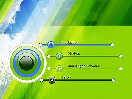 Green Dawn PowerPoint Template, Slide 3, 11098, Nature & Environment — PoweredTemplate.com