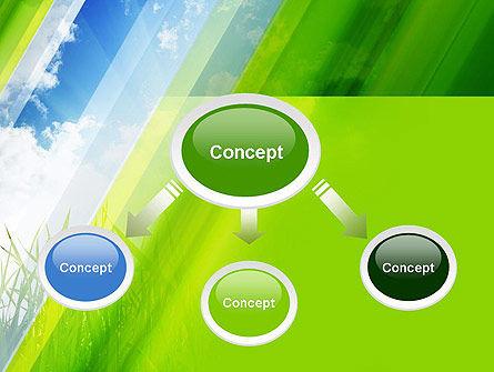 Green Dawn PowerPoint Template, Slide 4, 11098, Nature & Environment — PoweredTemplate.com