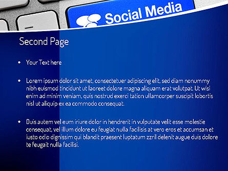 Social Media Keyboard PowerPoint Template, Slide 2, 11100, Telecommunication — PoweredTemplate.com