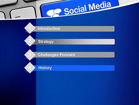 Social Media Keyboard PowerPoint Template, Slide 3, 11100, Telecommunication — PoweredTemplate.com