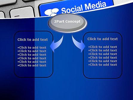 Social Media Keyboard PowerPoint Template, Slide 4, 11100, Telecommunication — PoweredTemplate.com