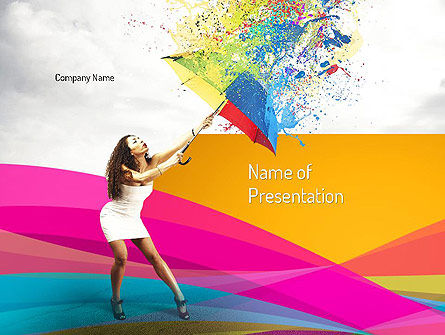 Art & Entertainment: Riot of Color PowerPoint Template #11101