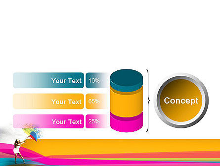 Riot of Color PowerPoint Template Slide 11