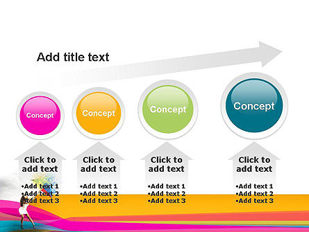 Riot of Color PowerPoint Template Slide 13