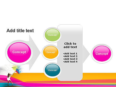 Riot of Color PowerPoint Template Slide 17