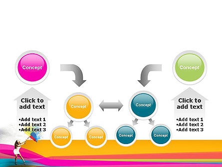 Riot of Color PowerPoint Template Slide 19