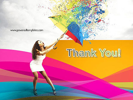 Riot of Color PowerPoint Template Slide 20