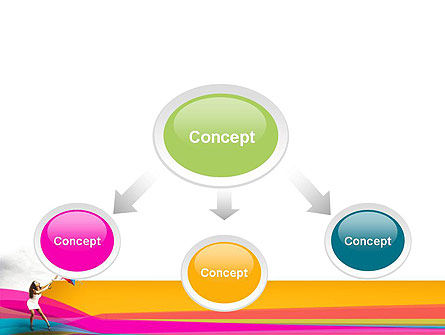 Riot of Color PowerPoint Template Slide 4