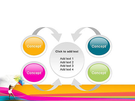 Riot of Color PowerPoint Template Slide 6