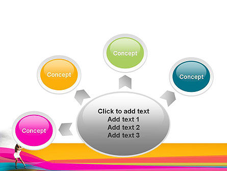 Riot of Color PowerPoint Template Slide 7