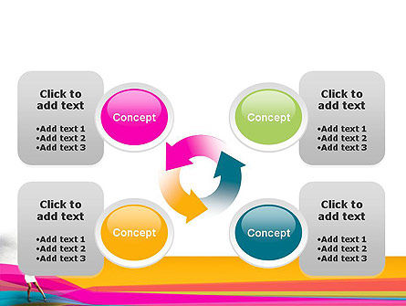 Riot of Color PowerPoint Template Slide 9