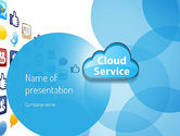 Technology and Science: Cloud Service PowerPoint Template #11104