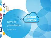 Technology and Science: Modèle PowerPoint de service cloud #11104
