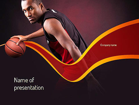 Basketball Theme PowerPoint Template, 11105, Sports — PoweredTemplate.com