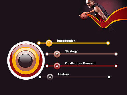 Basketball Theme PowerPoint Template Slide 3