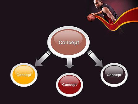 Basketball Theme PowerPoint Template Slide 4