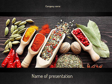 Food & Beverage: Set of Spices PowerPoint Template #11107