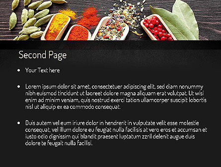 Set of Spices PowerPoint Template, Slide 2, 11107, Food & Beverage — PoweredTemplate.com