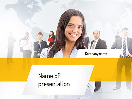 Business Woman PowerPoint Template, 11108, People — PoweredTemplate.com