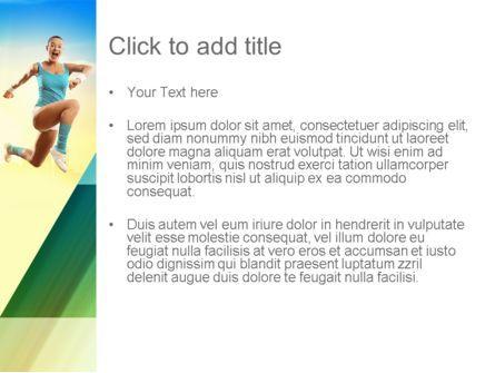 Girl Running PowerPoint Template, Slide 3, 11109, Sports — PoweredTemplate.com